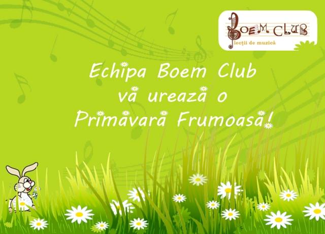 Felicitare Boem Club pentru o primavara frumoasa 2012