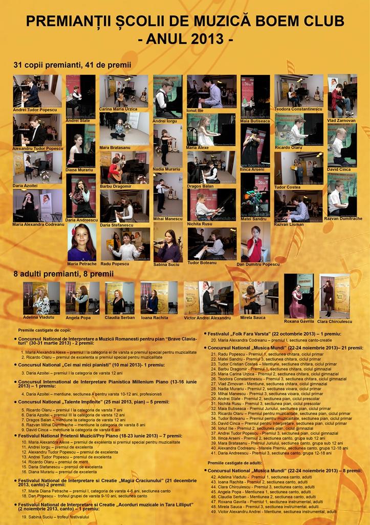 premiantii scolii de muzica boem club 2014